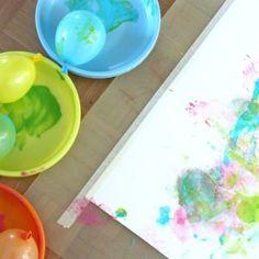 Vapputunnelmia ilmapallomaalauksella Plastic Cutting Board, Canvas