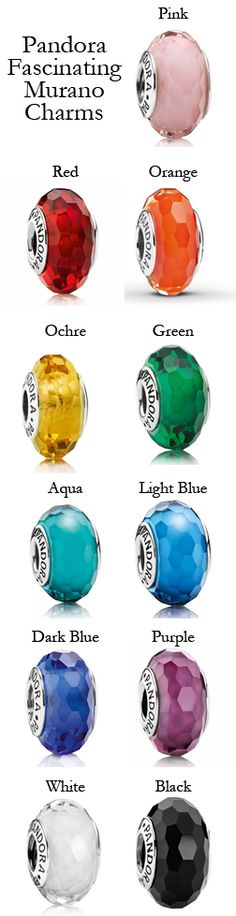 Pandora Fascinating Murano Charms. Available at Exclusively Diamonds.