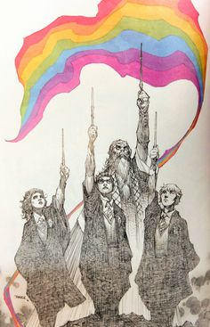 Here's something by Jim Lee Harry Potter - Love Is Love