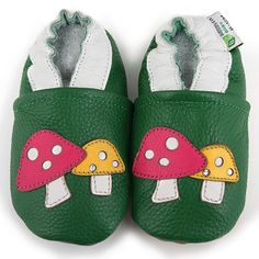 Augusta Baby Mushroom Soft Sole Leather Shoes | Overstock.com Shopping - Big Discounts on Augusta Products Boys' Shoes
