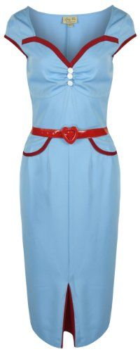 Lindy Bop 'Heidi' Chic Vintage 1950's Style Pencil Wiggle Dress