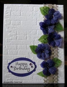 Vellum punched flowers, MS border punch, bricks EF
