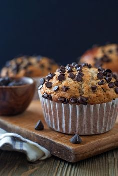 Bakery Style Chocolate Chip Muffins – Cookies for England Healthy Muffin Recipes, Breakfast Recipes, Dessert Recipes, Muffin Recipies, Breakfast Scones, Chocolate Chip Muffins, Chocolate Desserts, Chocolate Chips, Muffin Recipe Without Milk