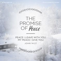"Day 25- The Promise of Peace // ""Peace I leave with you; My peace I give you."" {John 14:27} // 25 Days of Christmas Promises #incourageChristmas"