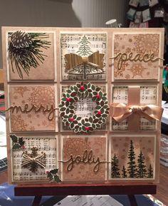 Christmas - SU - mini squares - Home decor