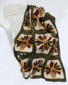Thanksgiving Turkey Afghan Crochet Pattern