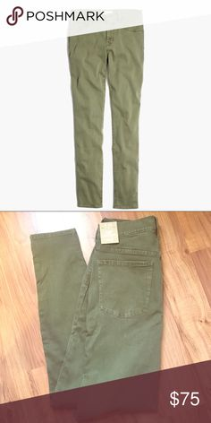 """MADEWELL SKINNY JEANS / SIZE 28 / NEW WITH TAGS MADEWELL / SIZE 28 / 9"""" HIGH RISER SKINNY SKINNY / GARMENT DYED OLIVE / NEW WITH TAGS / INSEAM IS 28 1/2"""" Madewell Jeans Skinny"""