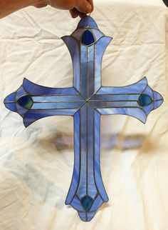 Stain Glass Cross, Tiffany Stained Glass, Stained Glass Suncatchers, Broken Glass, Crucifix, Crosses, Christianity, Dallas, Glass Art