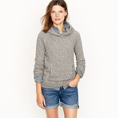 This looks ridiculously cozy. Perfect for midnight bonfires. // J. Crew summerlight terry hoodie, $65