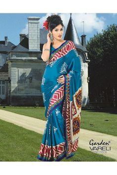 Buy Cast A Spell #BlueCrepeSaree Online India at Just Rs.1,211/- @ Best Low Prices