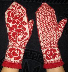 "Ravelry: Gloves ""Beauty without thorns"" Knit Mittens, Knitting Socks, Knit Socks, Fair Isle Knitting Patterns, Crochet Christmas Decorations, Ravelry, Knit Crochet, Embroidery, Beauty"