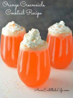 Orange creamcicle cocktail