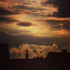 Sonnenuntergang in Münster
