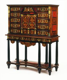 1670 French Cabinet on stand at the Victoria and Albert Museum, London