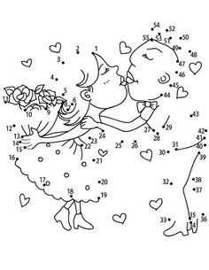 Sweet Dot To Dot Printable from Connect The Dots category. Find out more cool pictures to color for your kids photos with kids Sweet Dot To Dot Printable Wedding Coloring Pages, Coloring Pages For Kids, Coloring Books, Kids Coloring, Coloring Sheets, Kids Table Wedding, Wedding With Kids, Kids Wedding Activities, Activities For Kids
