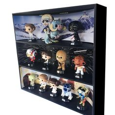 Running out of room for your Funko Pops? We can fix it! Comes with 3 Backdrop Inserts (LE 500) Backdrop Inserts are Limited Edition! Wall Mountable.