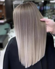 Bouncy Waves - 40 Ash Blonde Hair Looks You'll Swoon Over - The Trending Hairstyle Brown Ombre Hair, Brown Blonde Hair, Ombre Hair Color, Blonde Brunette, Ash Blonde Hair Balayage, Blonde Straight Hair, Ash Blonde Hair Extensions, Ash Blonde Balayage, Silver Ombre