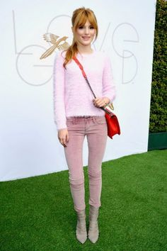 Outfit inspiration: Bella Thorne's all-pink outfit