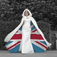 union jack cape cloak wedding