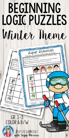 Winter Theme Logic Puzzles promote critical thinking skills in first, second, third grade & homeschool students. Develop skills in logical thinking, problem solving, making inferences, drawing conclusions, recognizing similarities & differences & more while reinforcing reading & math skills. Perfect for morning or center work, a whole group activity, independent work, or small group lesson. These differentiated puzzles of varying difficulty are great for early finishers! {1st, 2nd, 3rd…
