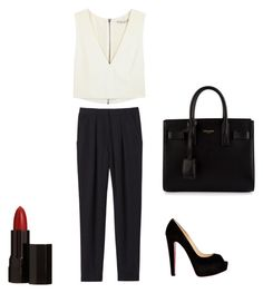 """""""Senza titolo #6"""" by valemasii ❤ liked on Polyvore featuring mode, Rebecca Taylor, Alice + Olivia, Christian Louboutin, Yves Saint Laurent en Serge Lutens"""