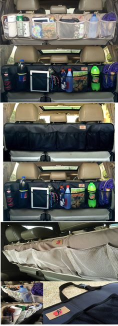 Car Trunk Organizer with 3 Headrest Strap