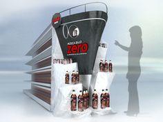 Muy original la idea del barco para promocionar la bebida.David Menéndez.POP by Martin Beauchamp, via Behance