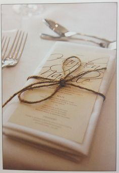 Napkin Idea -really lovely one too!   http://www.personalised-napkins.com