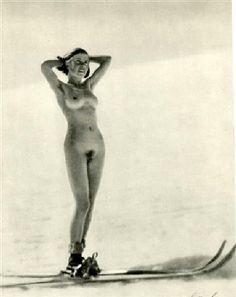 "Christian Aegerter (Swiss, active 1930s). ""Ski"". Original vintage photogravure. c1933. Printed 1933. Signed in the negative."