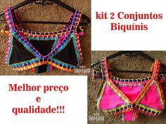 7fa5439abc35 Kit 2 Conjuntos Biquíni Neon Crochê Kiini 2020 Frete Grátis - R$ 120,00