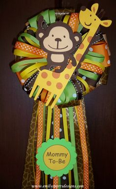 Safari or Jungle Mommy To Be Corsage