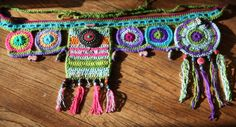 Cosmic crochet utility belt / hip wrap  reserved by HorizonsEd3e, $85.00