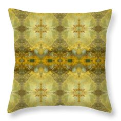 Greenstone Moon Throw Pillow by Elizabeth Cope May. Accents of citrine lemon, khaki, and olive green give this design a clean, contemporary appeal that's both soothing and restful. Multi sizes available at http://ElizabethCopeMay.com.