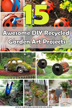 The best diy yard art ideas so many awesome ideas for your yard 15 awesome diy recycled garden art projects solutioingenieria Gallery