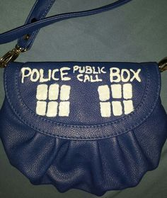 My homemade Doctor Who Tardis purse. Using it for my female Ten cosplay