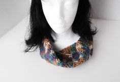 Crocheted Moebius Scarf Multicolored by Yarnettes on Etsy, $16.50