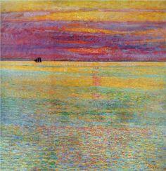 Childe Hassam - Sunset at Sea  http://es.wikipedia.org/wiki/Childe_Hassam