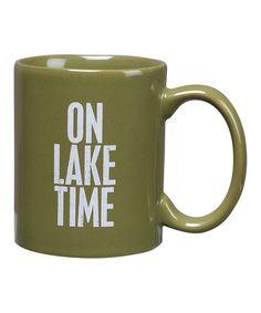 Look at this #zulilyfind! 'On Lake Time' Mug #zulilyfinds