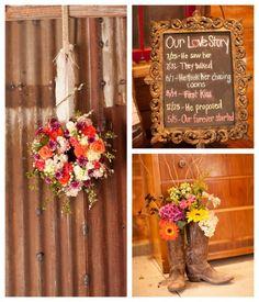 Barn wedding flowers from rusticweddingchic...