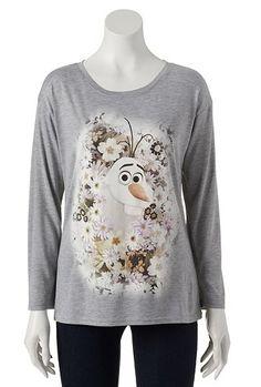 Disney Frozen Floral Olaf Tee - Juniors #Kohls