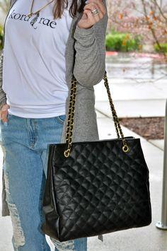 Kiki Simone Fashion - Fashion blog by Kiki Simone Williamson: clothing: BOYFRIEND JEANS AND CARDIGAN