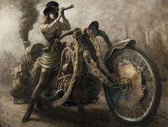 art / красивые рисунки и картины steampunk стимпанк фото дев…