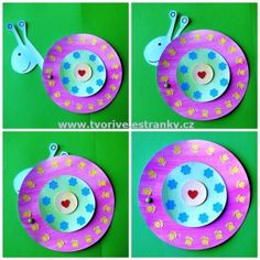 Snail Paper Plate Craft with writing sheet from www.daniellesplace ...