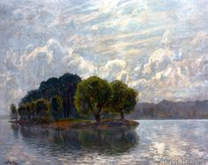 Walter Leistikow - Liebesinsel in der Spree Treptow Artist And Craftsman, Look At The Sky, Classical Art, Art Reproductions, Landscape Art, Picture Frames, Fine Art Prints, Scenery, Wallpaper