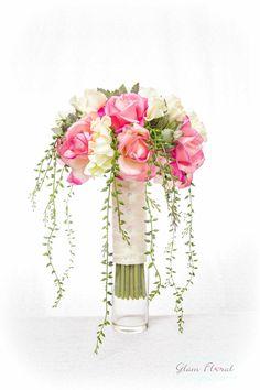 Roses & Succulents Bridal Wedding Bouquet