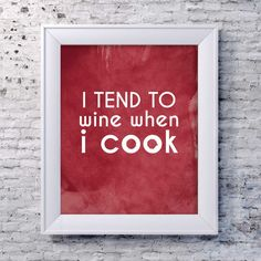 Wine Quote Art Print Kitchen Wall Decor by SmartyPantsStudio, $20.00