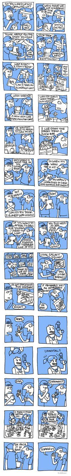 """LEGO Friends"" by Maritsa Patrinos of Seasonal Depression."