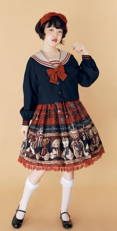 The Sweet Sailor Girl Sailor Lolita Jacket Kawaii Fashion, Lolita Fashion, Cute Fashion, Fashion Poses, Fashion Outfits, Character Outfits, Lolita Dress, School Fashion, Japanese Fashion