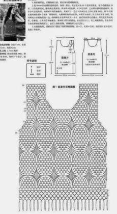 pinterest.ru Gilet Crochet, Crochet Cardigan Pattern, Crochet Shirt, Crochet Lace, Crochet Stitches, Crochet Patterns, Crochet Books, Diy Crafts Crochet, Crochet Summer Tops