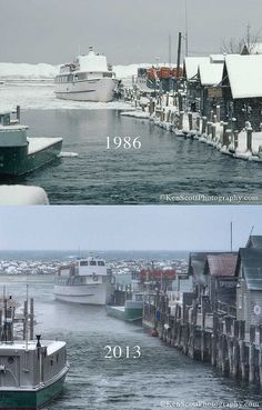 "Leelanau- then and now ""... is the Lake Michigan water level low?"" ... by Ken Scott, via Flickr"